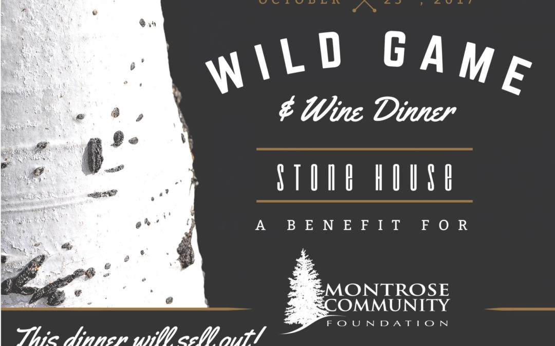 Wild Game & Wine Dinner @ The Stone House – 10/25